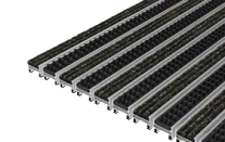 Ciko RRB  tapis à profilés aluminium + bandes reps + rangées de brosses